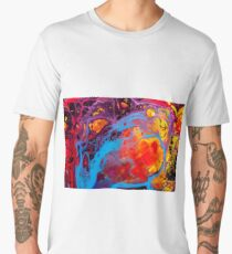 Cute Colorful Girly Abstract Watercolor Pattern Phone Case Men's Premium T-Shirt