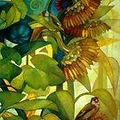 goldfinches by elisabetta trevisan