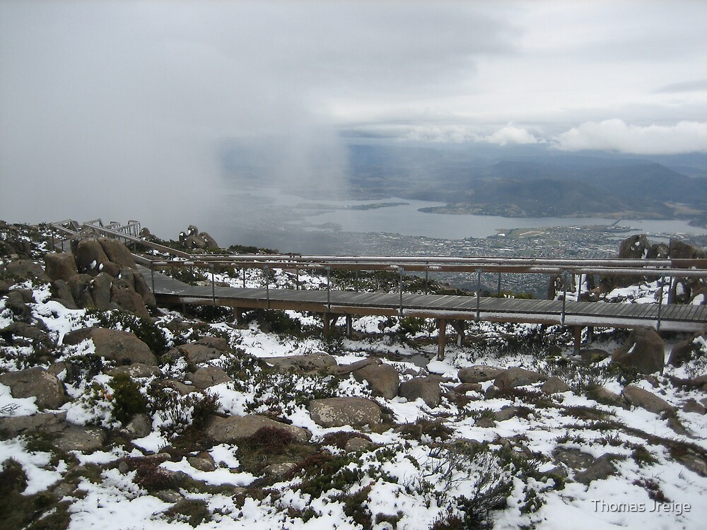 View of Hobart from Mt Wellington by Thomas Jreige