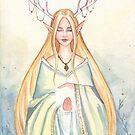 Elf Horned Priestess by Nicole Cadet