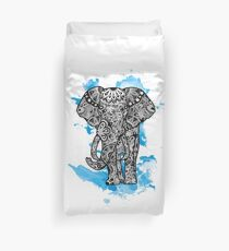 Tribal Elephant- Blue Bettbezug