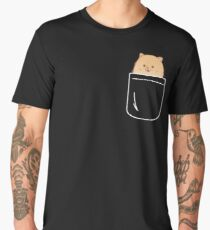 Pomeranian In Your Pocket Funny Puppy Emoji Men's Premium T-Shirt
