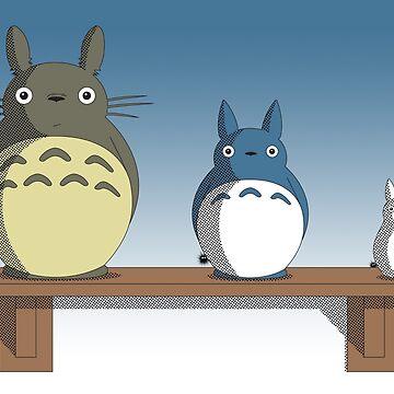 Totoro Nesting Dolls by dbizal
