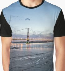 Humber Bridge   Blue Hour Graphic T-Shirt