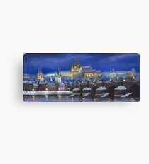 The Prague Panorama Charles Bridge Prague Castle Canvas Print