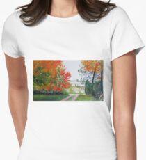 Minnesota Fall View Women's Fitted T-Shirt