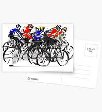 Cyclists Postcards