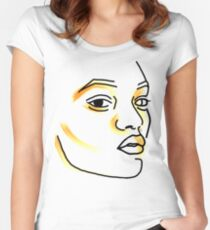 STROKE OF ORANGE Women's Fitted Scoop T-Shirt
