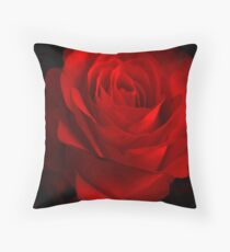 One Rose Red. Throw Pillow