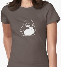 TUX Penguin in a bad mood, LINUX  Women's Fitted T-Shirt