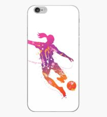 Female soccer player iPhone Case