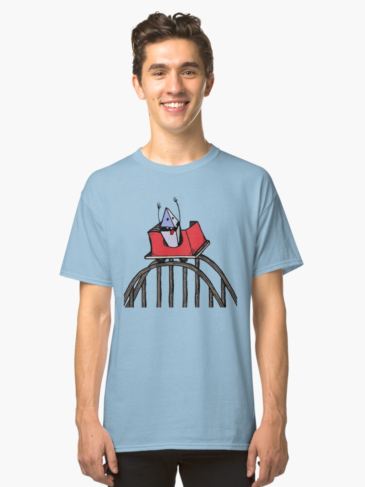 Ethereum Rollercoaster Guy Classic T-Shirt Front