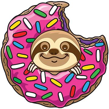 Cute Sloth donut by plushism