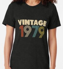 Vintage 1979 - 39th Birthday Tri-blend T-Shirt