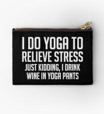 Wine & Yoga Pants Zipper Pouch