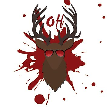 Deer - T-shirt - Brown red - Oh deer by LuxurySeller