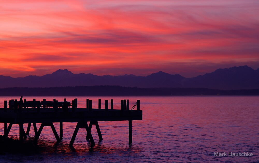 Alki Pier by Mark Bauschke