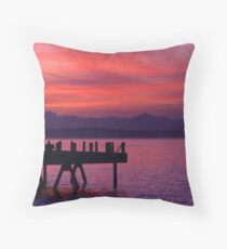 Alki Pier Throw Pillow