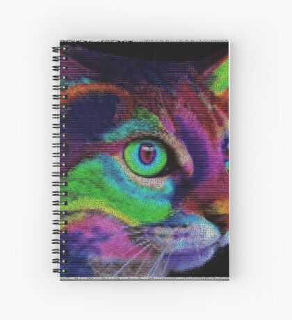 ASCii ART COLOR CAT ™ by ROOTCAT Spiral Notebook