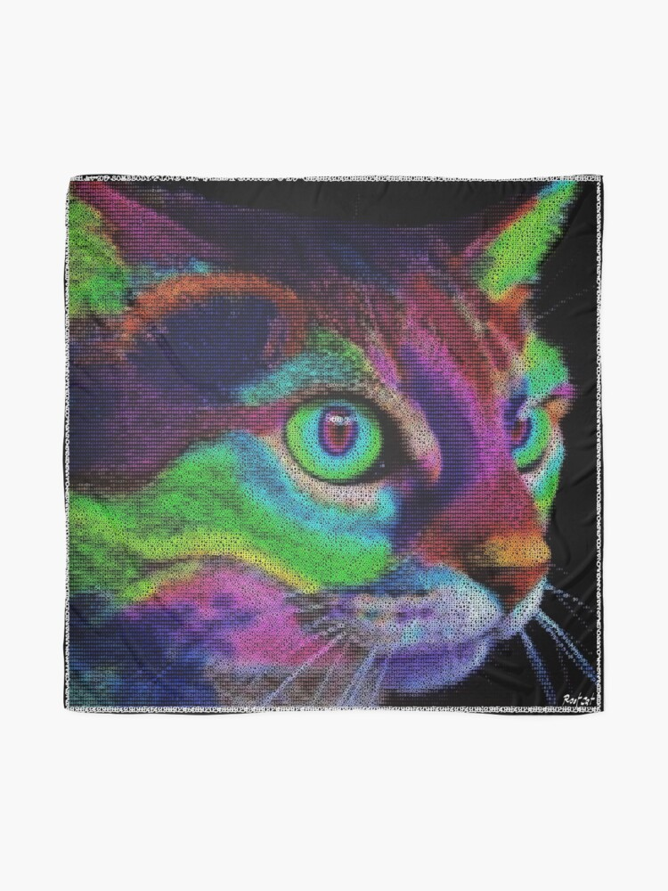Alternate view of ASCii ART COLOR CAT ™ by ROOTCAT Scarf