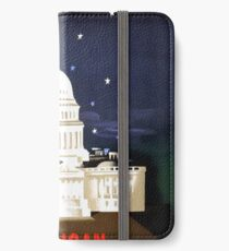 Washington Travel Poster iPhone Wallet/Case/Skin