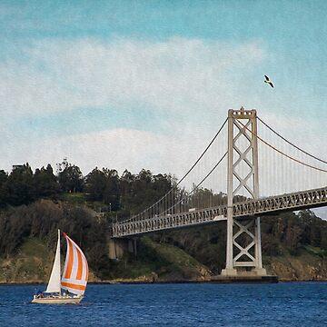 Sailboat on the Bay by bonnie-follett