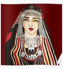 Yemeni woman Illustration  Poster