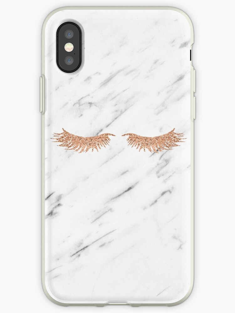 Rose gold marble lash envy by marbleco