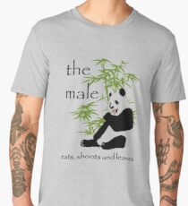 The Male Eats, Shoots and Leaves Men's Premium T-Shirt