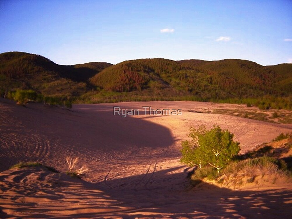 Purple Shadows Of Walden Sand Dunes... by Ryan Thomas