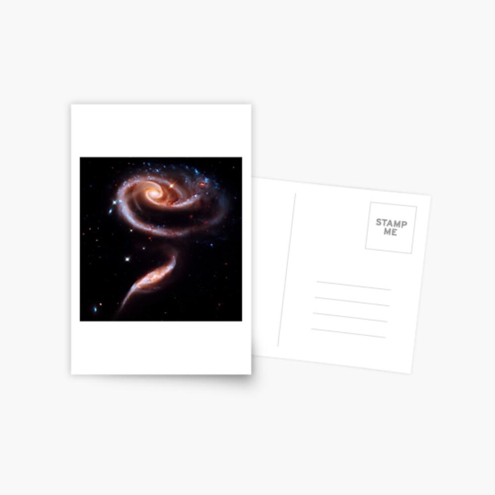 Eine Rose aus Galaxien Postkarte