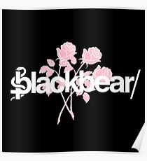 Blackbear w Pink rose design Poster