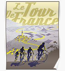 TOUR DE FRANKREICH; Vintage Fahrrad Racing Print Poster