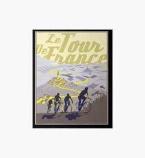 TOUR DE FRANCE; Vintage Bicycle Racing Print Art Board