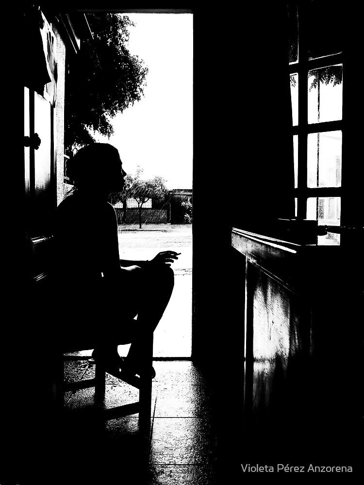 Si la lluvia... by Violeta Pérez Anzorena