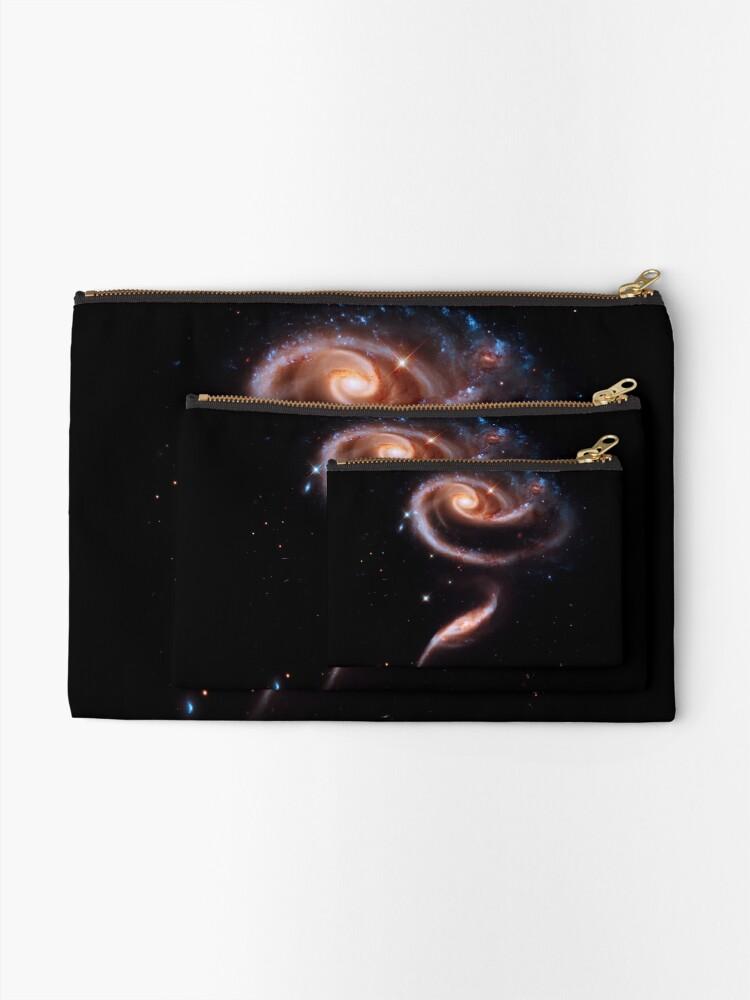Alternative Ansicht von Eine Rose aus Galaxien Täschchen