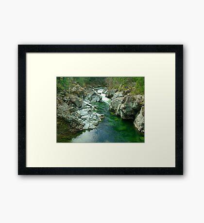 Cowichan Valley Stream Framed Print