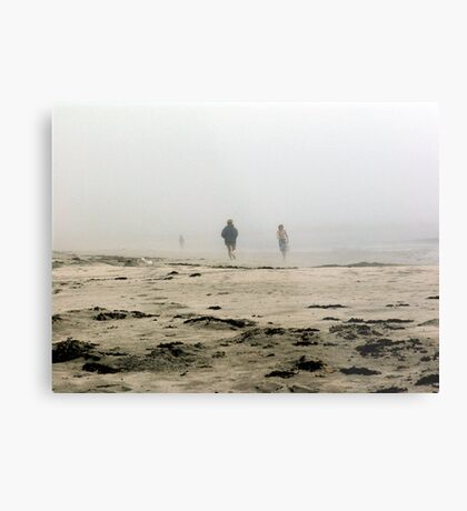 The Fog Rolls in at Tor Bay Metal Print