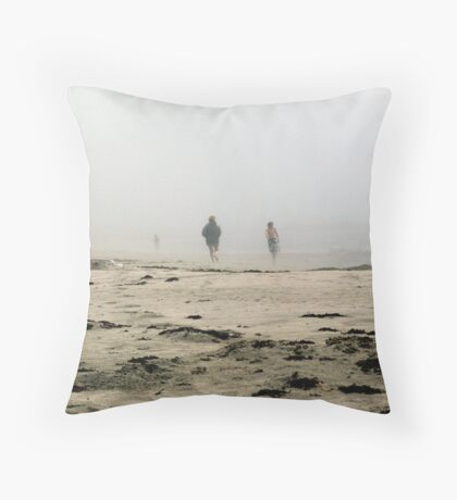 The Fog Rolls in at Tor Bay Throw Pillow