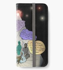 3 E.T. wise men visit Bethlehem in a Starship from the east iPhone Wallet/Case/Skin