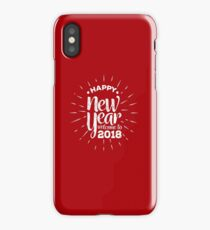 Happy New Year 2018 White Design iPhone Case
