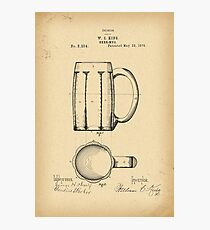 1876 Patent Design for beer mugs Photographic Print