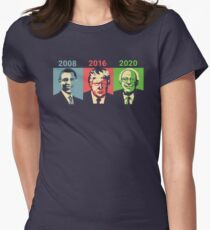 Obama, Trump, Bernie - Change Women's Fitted T-Shirt