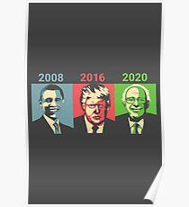 Obama, Trump, Bernie - Change Poster
