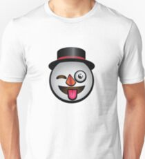 Winter Wonderland Silly Snowman Emoji Face  Unisex T-Shirt