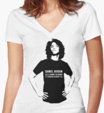 Dan Avidan Loves Haikus Women's Fitted V-Neck T-Shirt