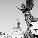 Angel In Flight #art #decor #Rome #Italy by Jacqueline Cooper