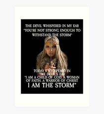 The Devil Whispered in My Ear Bible Verse Art Print
