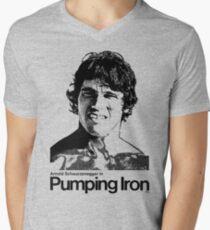 Pumpendes Eisen T-Shirt mit V-Ausschnitt