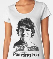 Pumpendes Eisen Frauen Premium T-Shirts